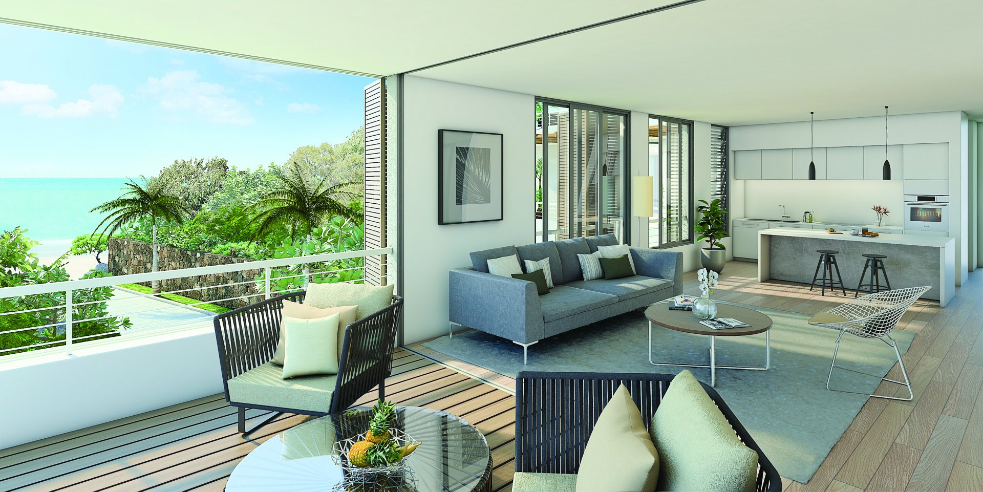 Beautiful apartment on the 1st floor of a residence in Mauritius