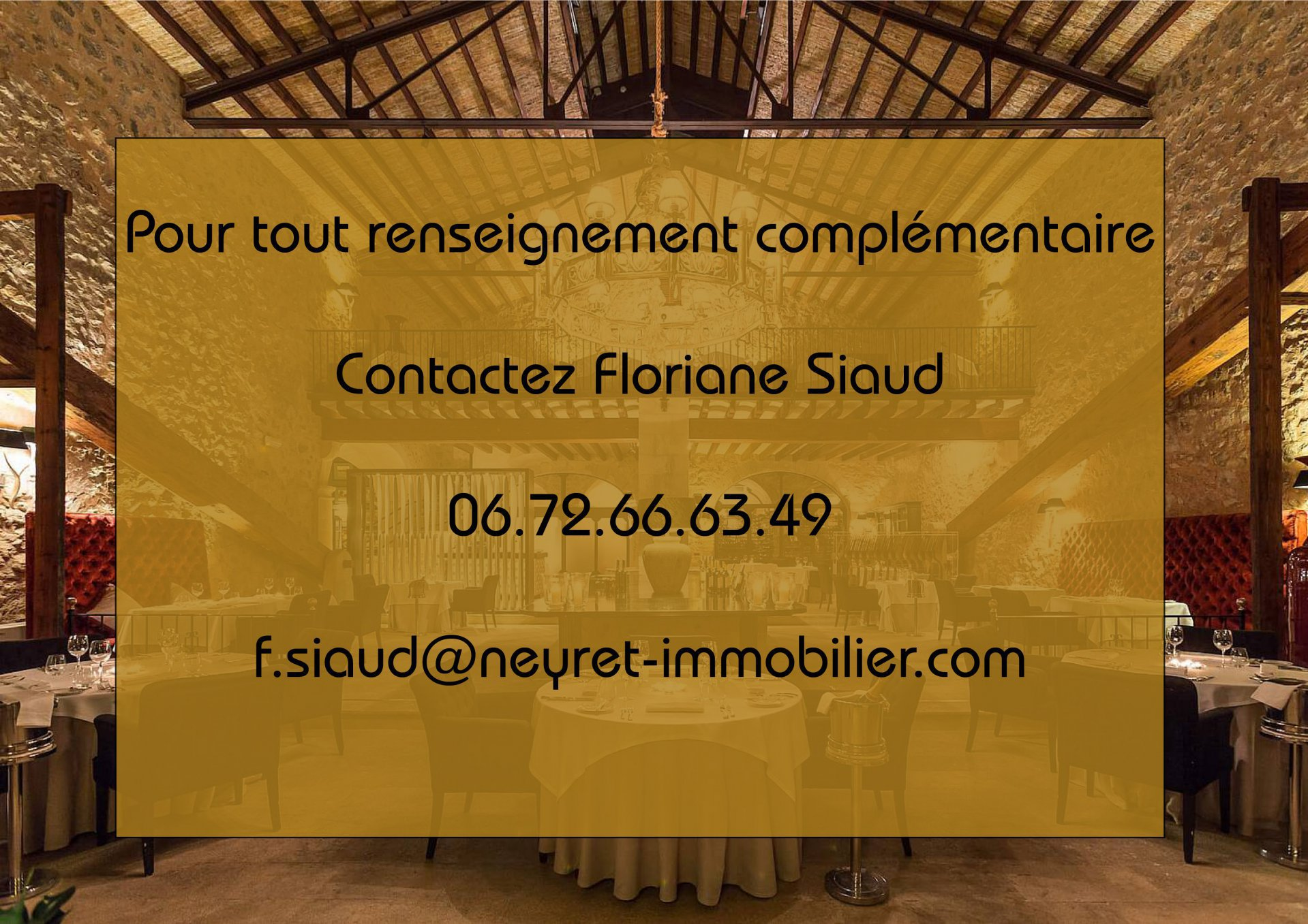 FONDS DE COMMERCE RESTAURANT 15000 PASSAGES JOUR