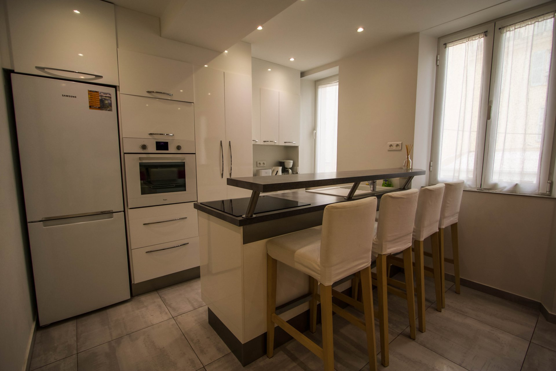 Two-bedroom apartment in Cannes, close to Palais des Festivals and the sea