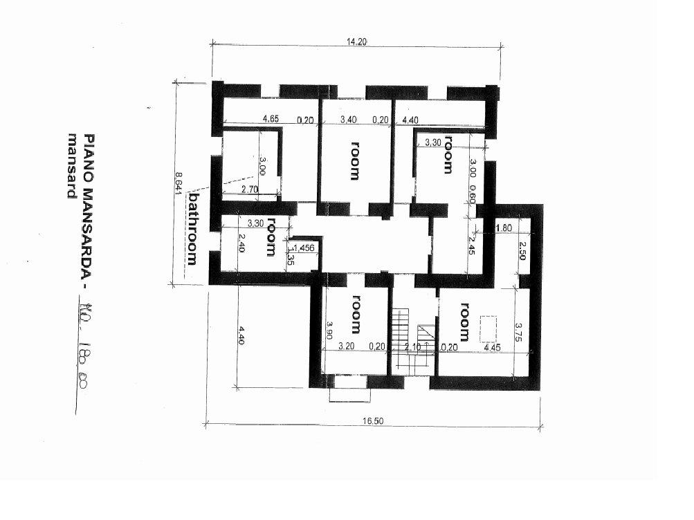 Villa in vendita a Ranco - planimetria mansarda