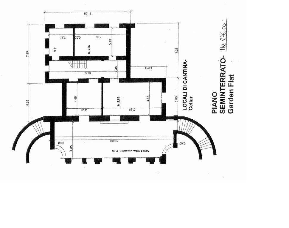 Villa in vendita a Ranco - planimetria piano seminterrato