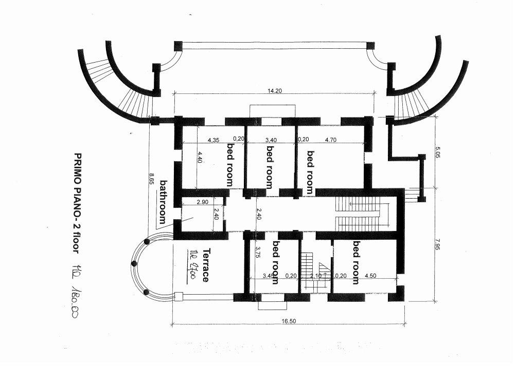 Villa in vendita a Ranco - planimetria primo piano