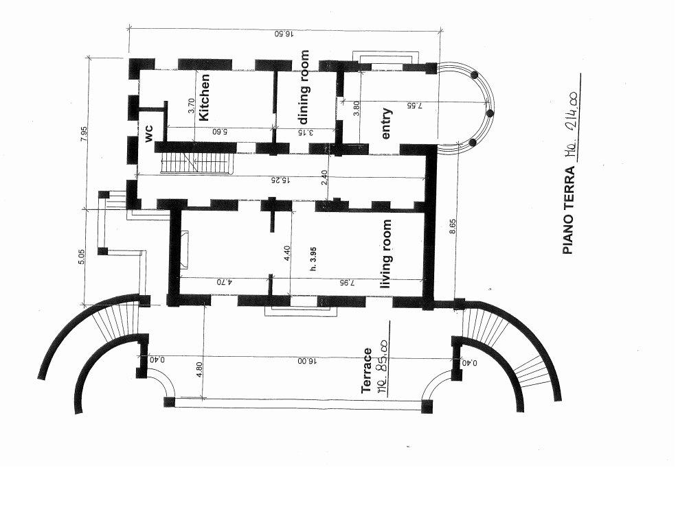 Villa in vendita a Ranco - planimetria piano terra