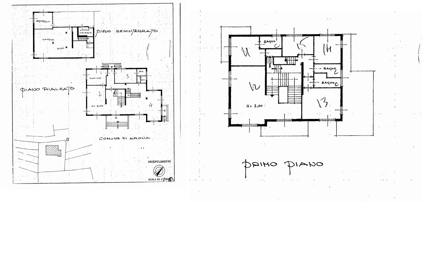 Property for sale in Arona - floor plan A