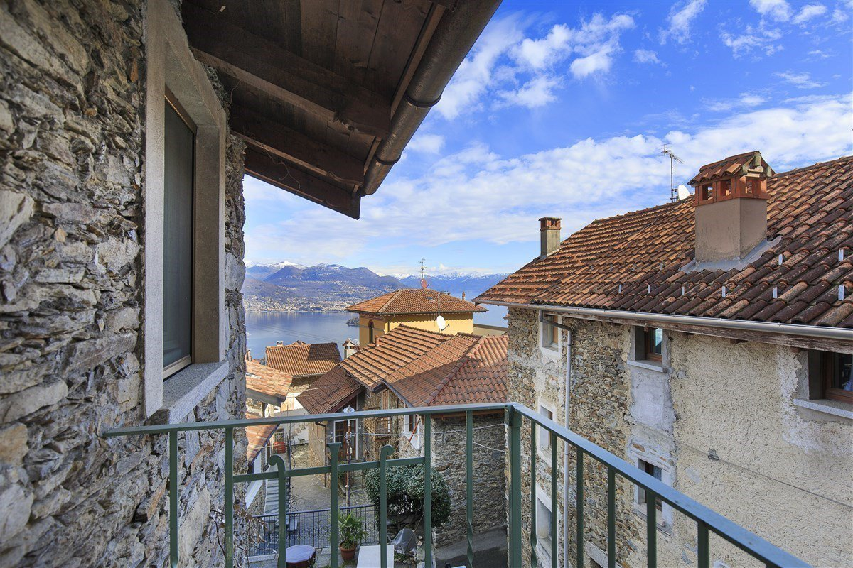 Characteristic stone house for sale on the hill of Stresa - view