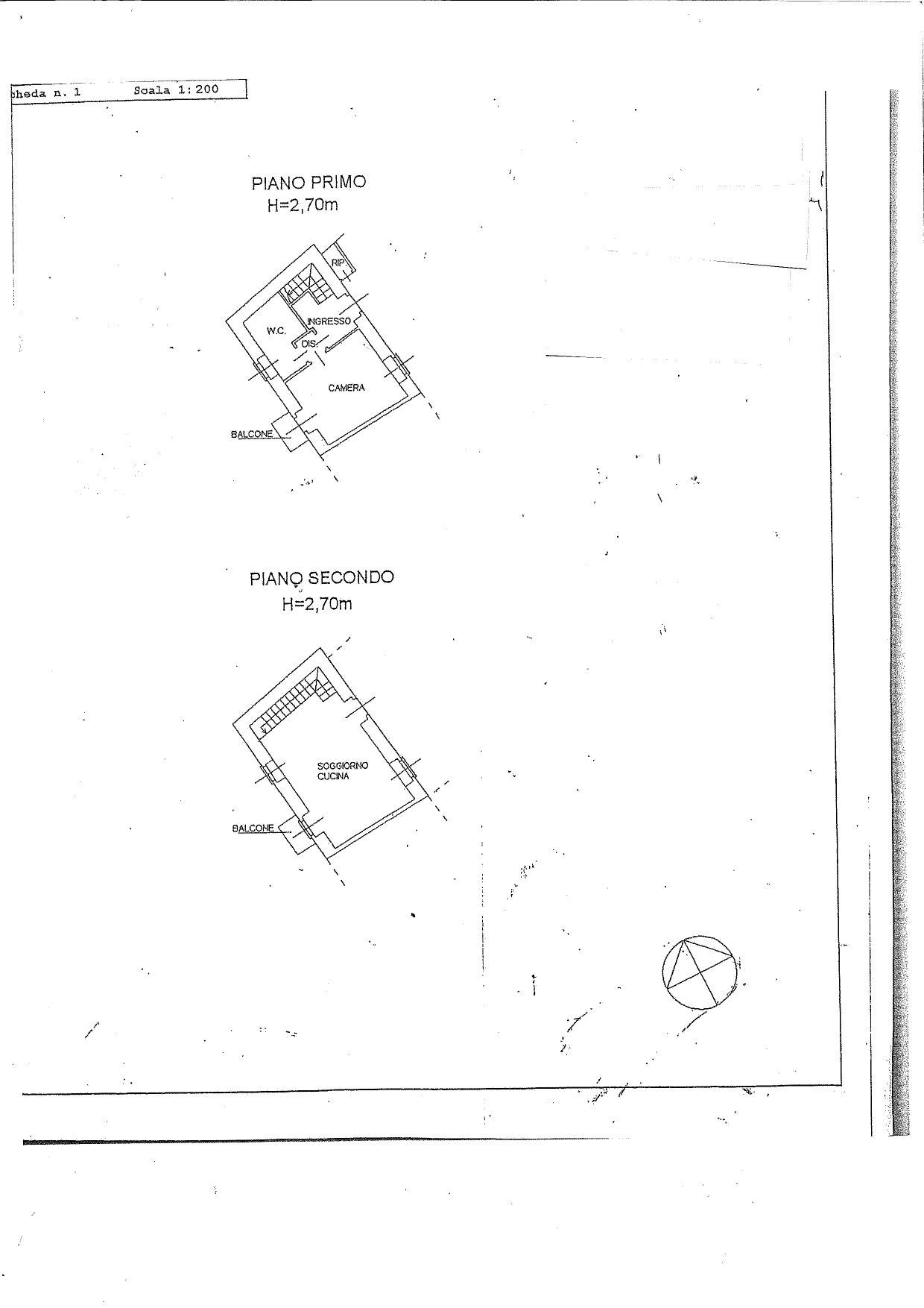 Planimetria appartamento al piano primo e ultimo
