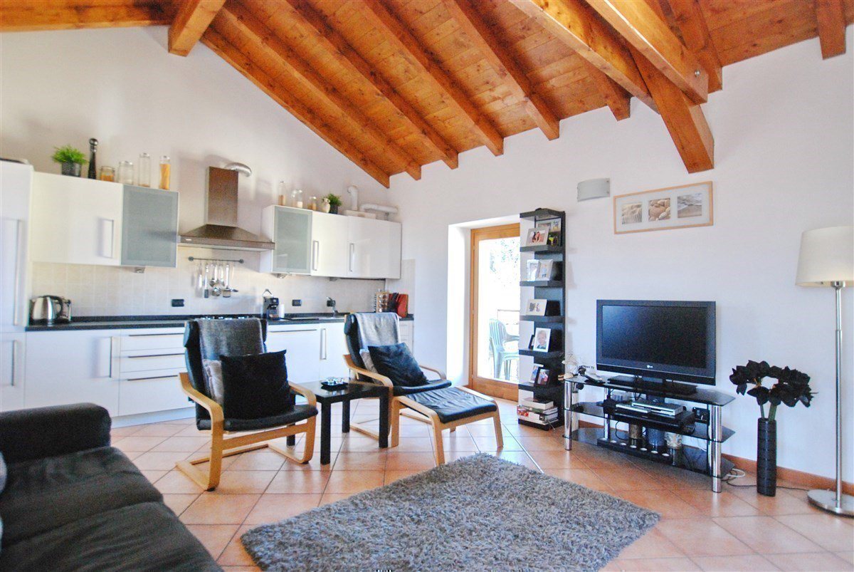 two-room apartamnet decorated for sale in Stresa- living room