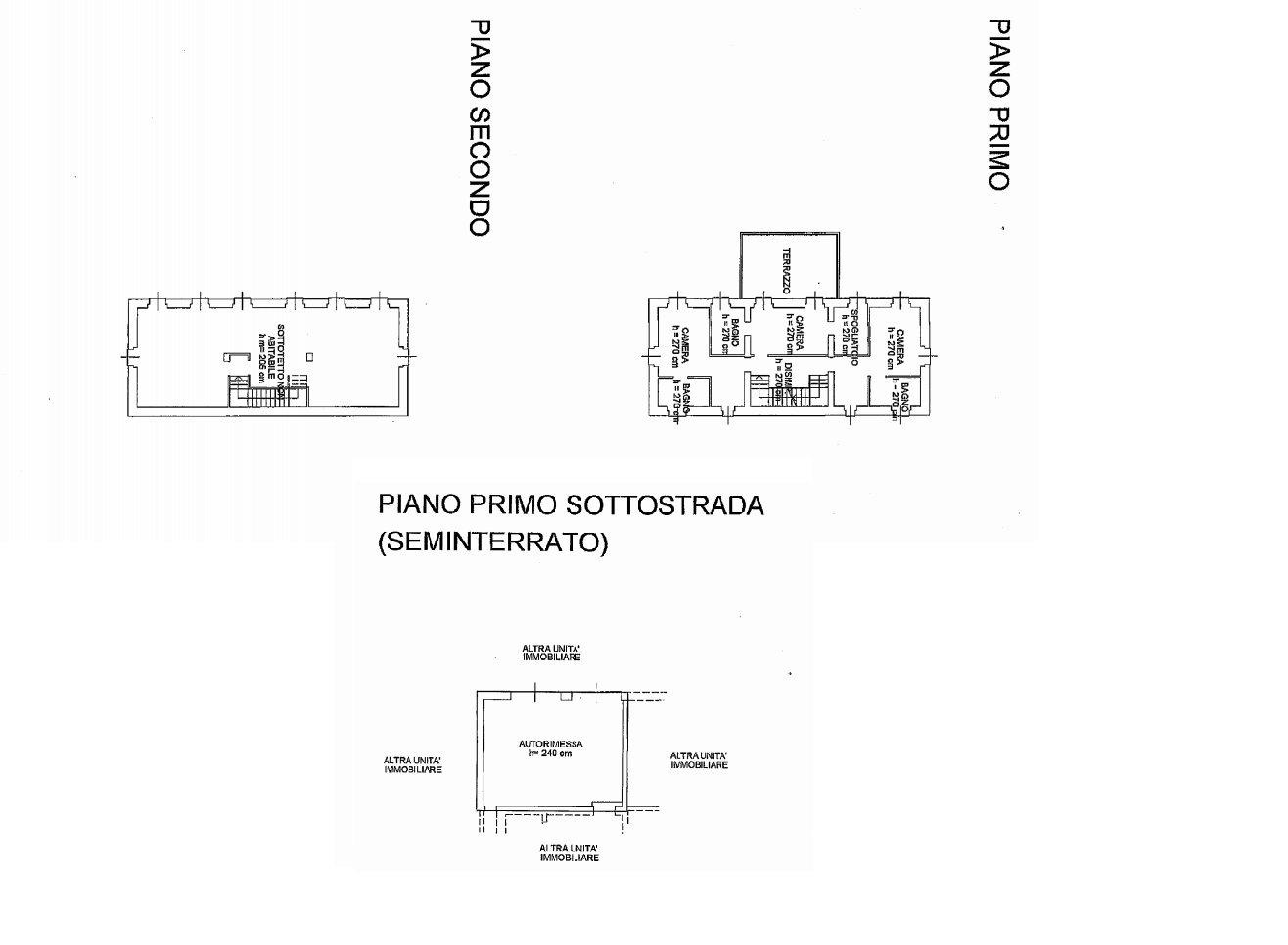 Exclusive villa for sale in Verbania on Lake Maggiore - floor plan B