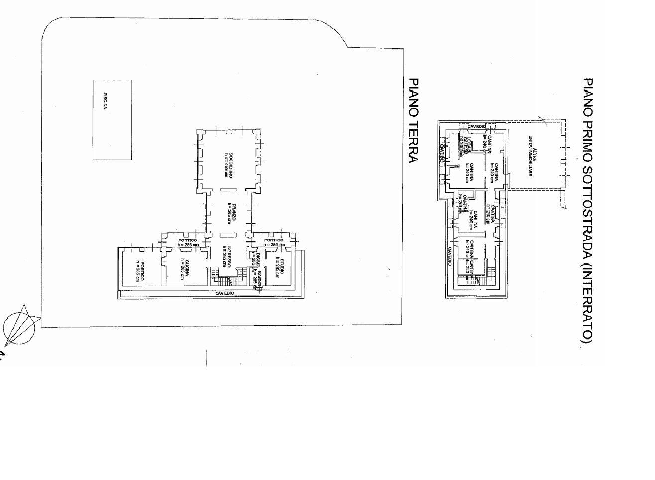 Exclusive villa for sale in Verbania on Lake Maggiore - floor plan A
