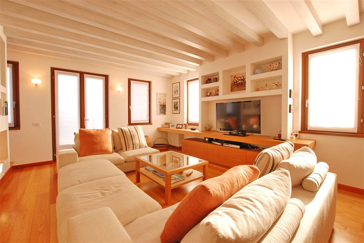 Rustic restored for sale in Stresa- wide living room