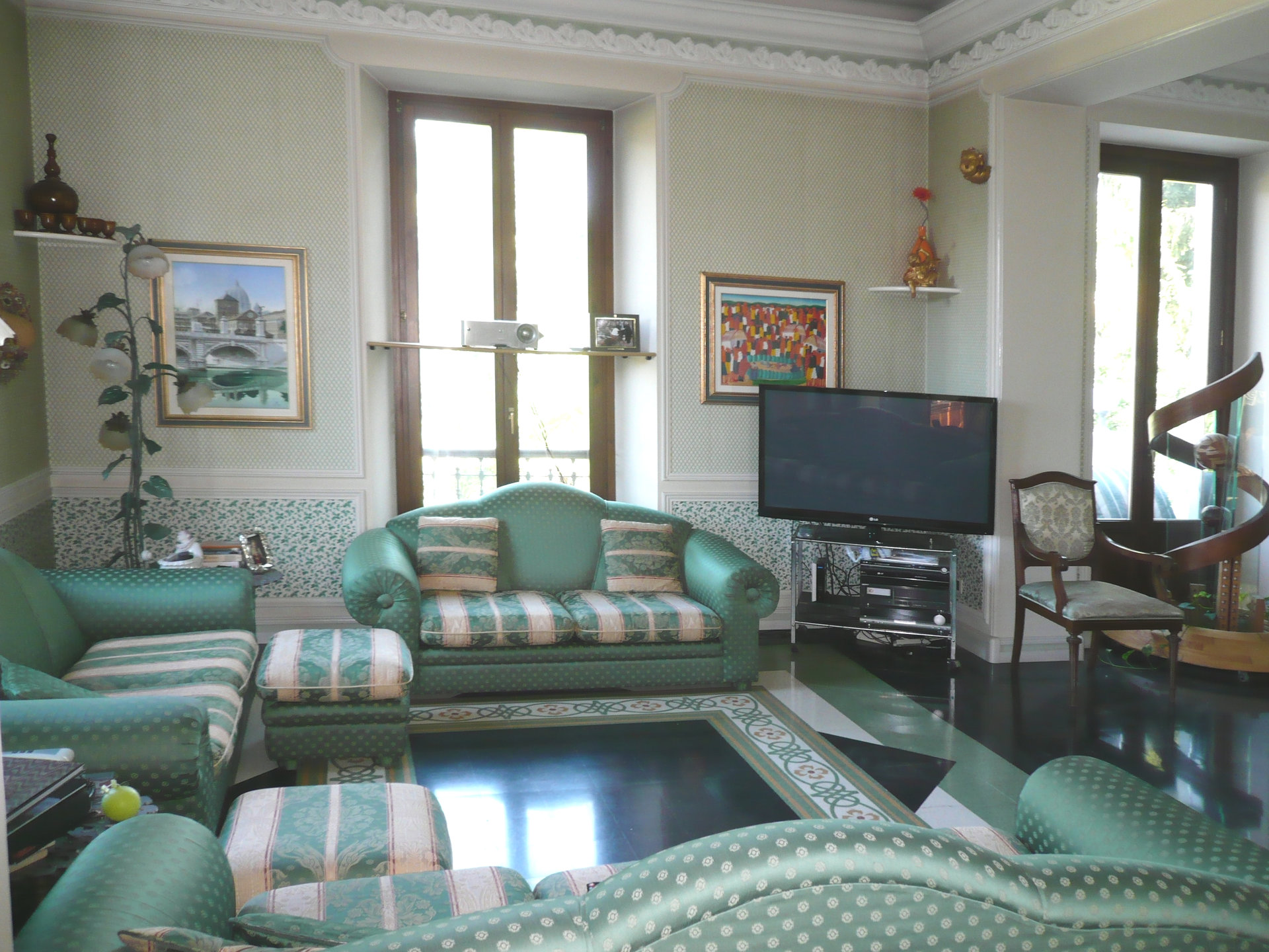 Historic villa for sale in Luino -  living room
