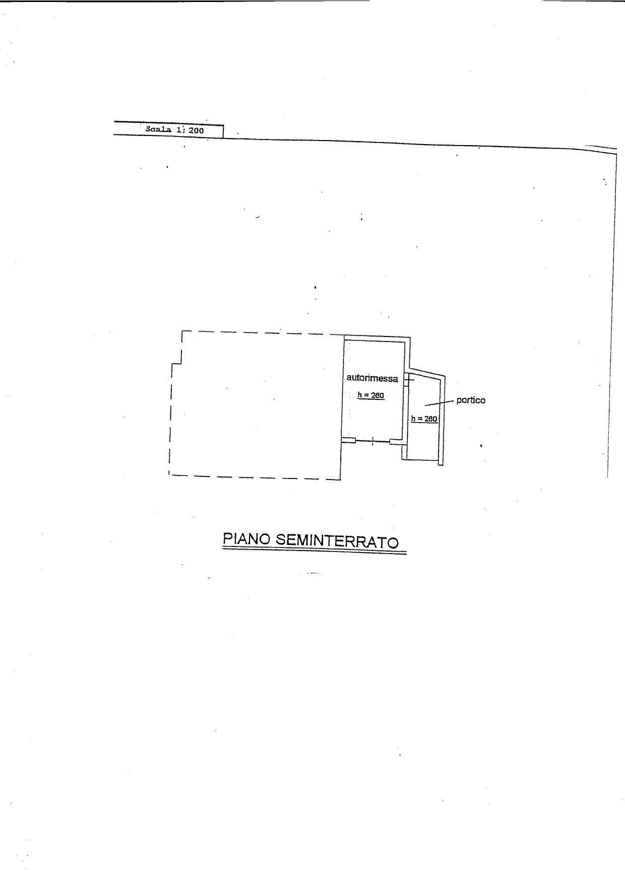 House for sale in Belgirate - garage floor plan