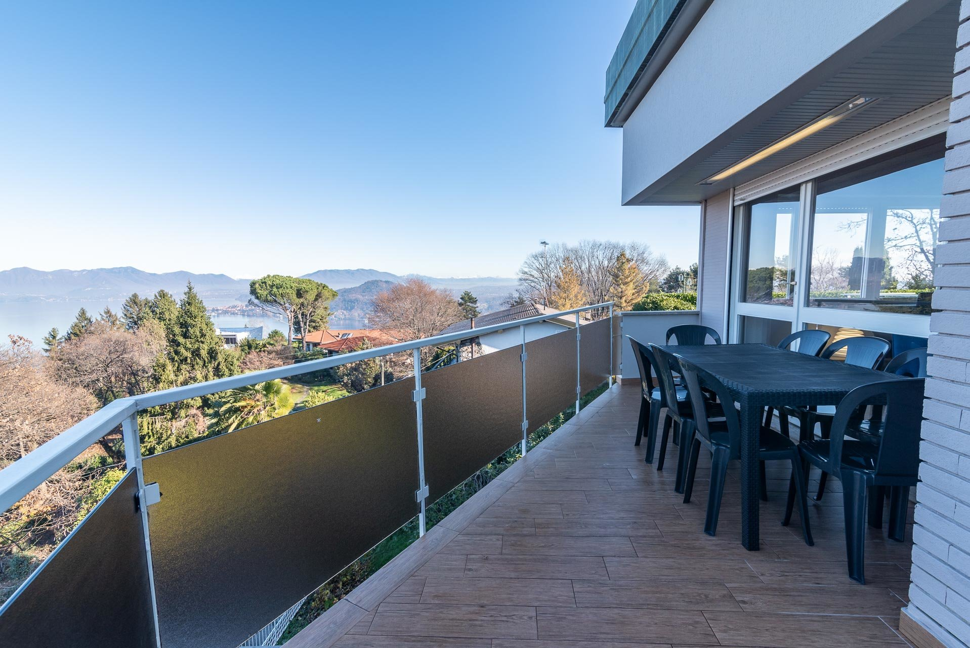 Modern villa for sale near Arona centre - lake view terrace