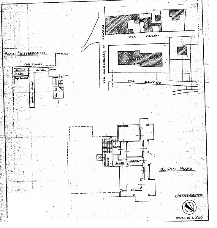 Apartment for rent in Stresa - fifth floor house plan