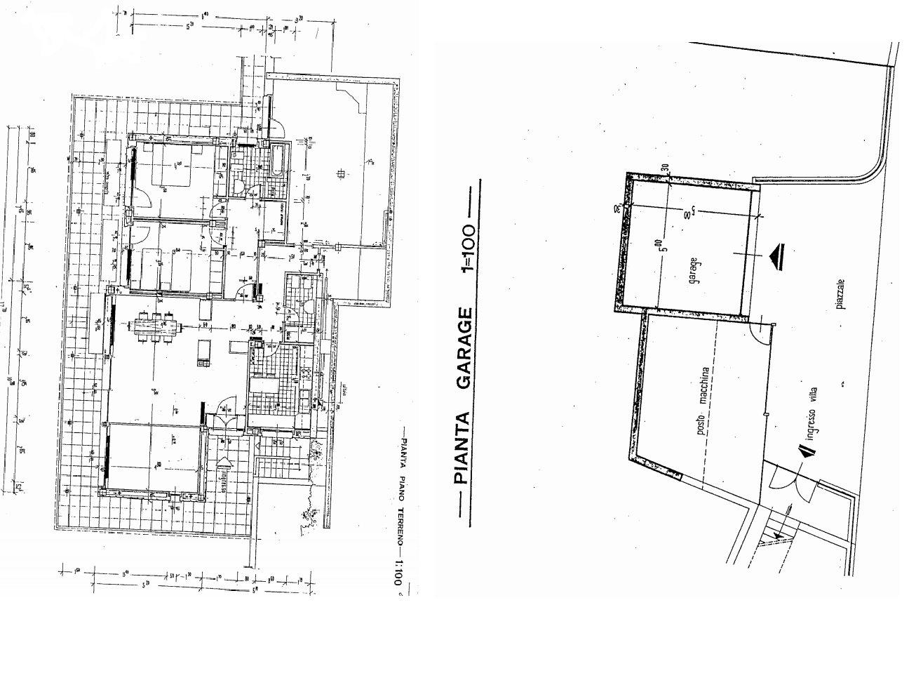 Villa in vendita al Lago Maggiore con darsena e spiaggia - planimetria B