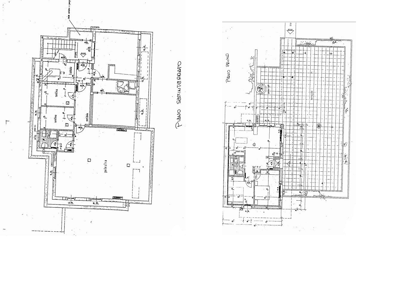 Villa in vendita al Lago Maggiore con darsena e spiaggia - planimetria A