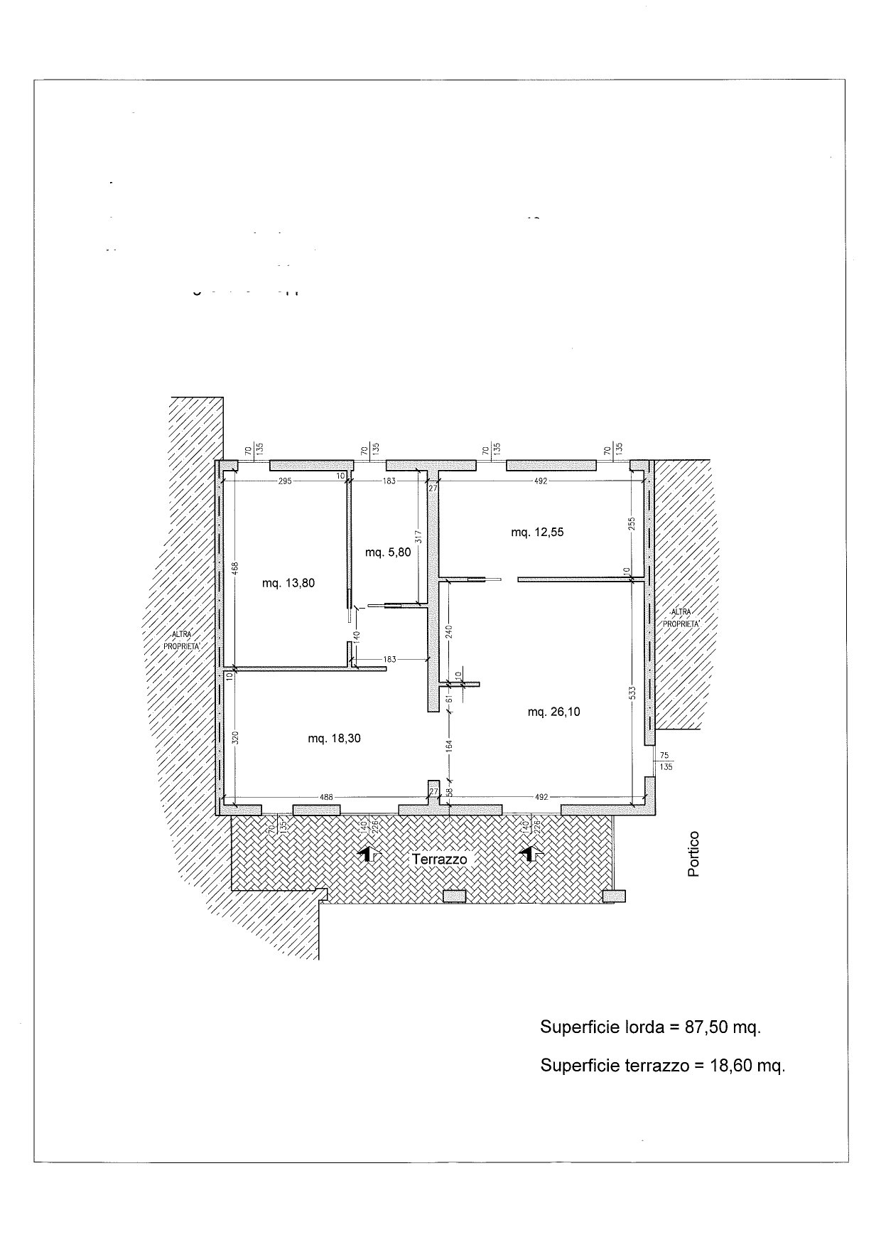 Ground floor apartment plan