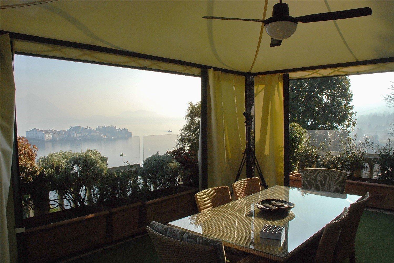Apartment for sale in Baveno, inside a historic lake front villa - terrace with gazebo