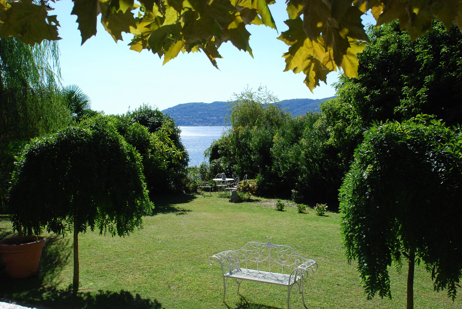 Historic villa with guesthouse and land for sale in Verbania - garden