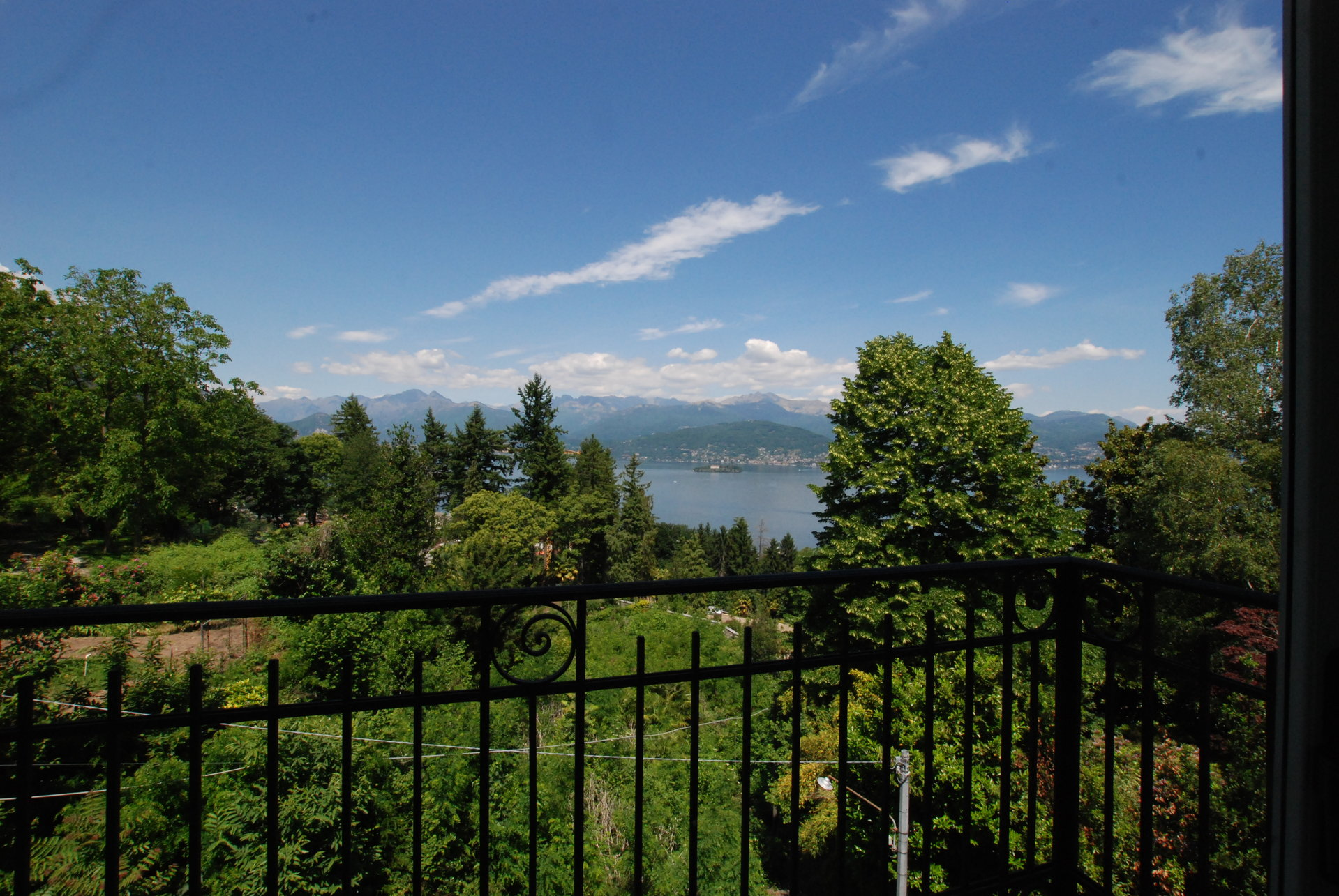 Furnished apartment for sale in Stresa - view from the balcony