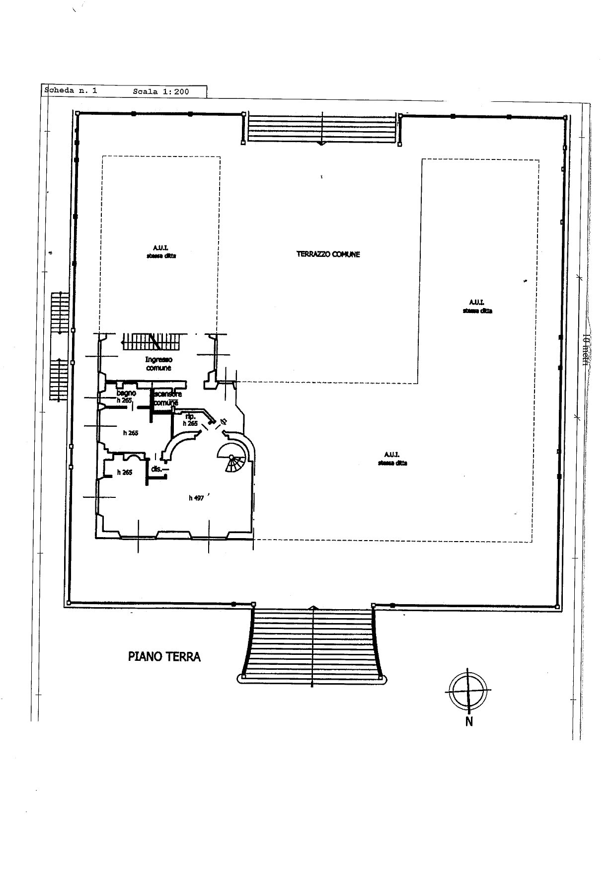 Prestigious apartment  for sale Castelletto - floor plan