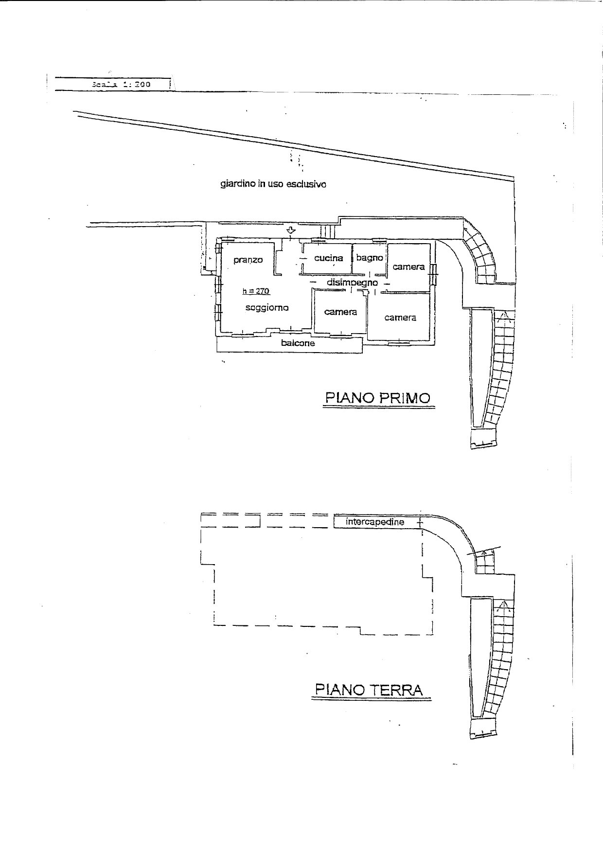 Apartment for sale in Belgirate - floor plan