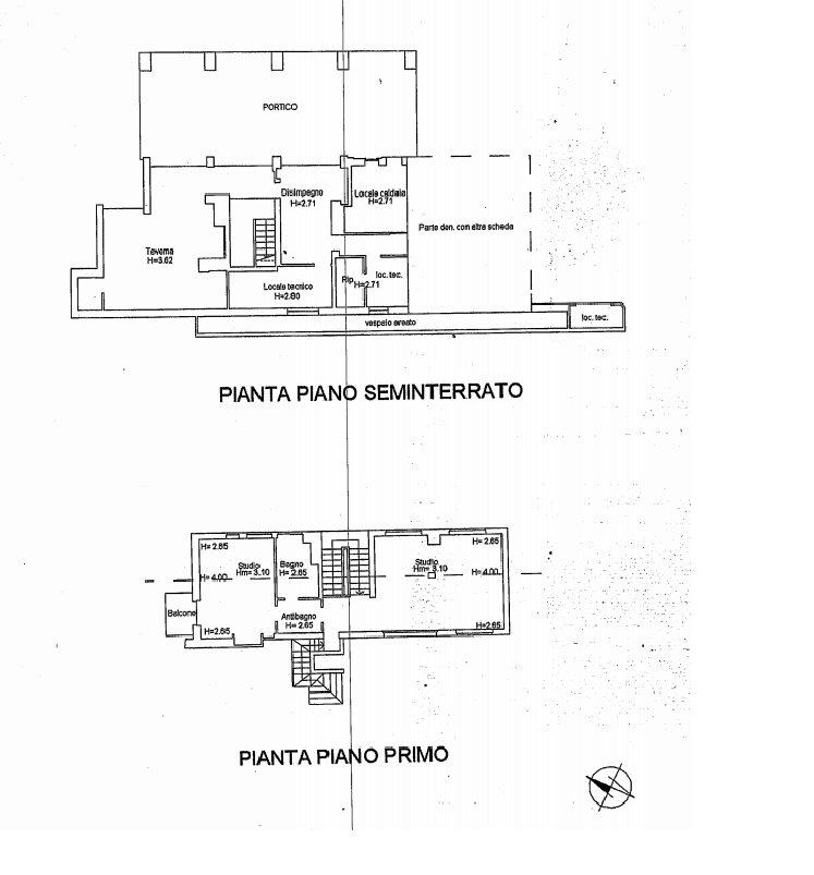 Luxury villa for sale in Meina - first floor plan