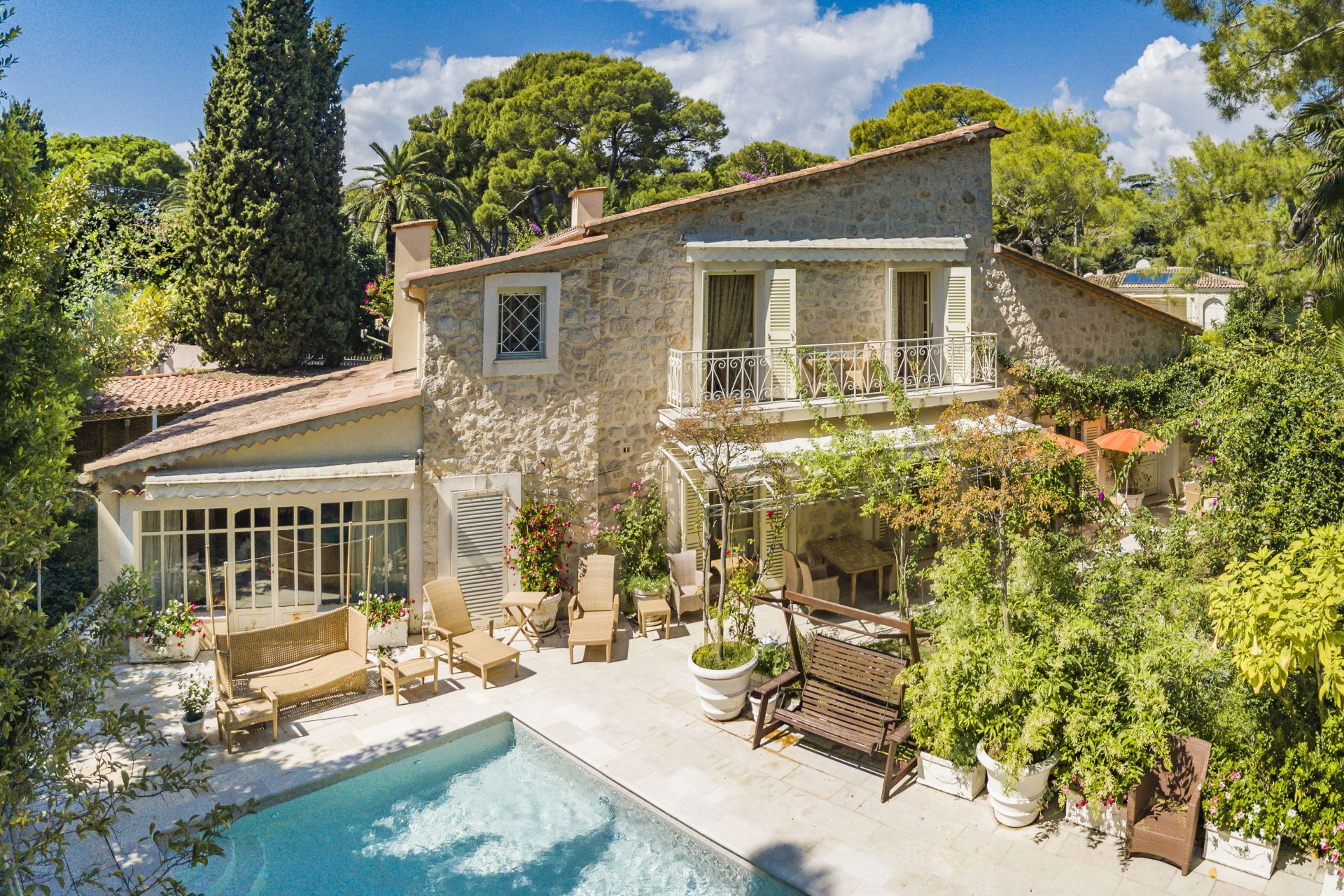 Saint Jean Cap Ferrat, stone villa close to the village.