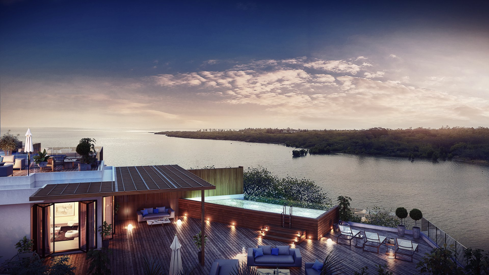 Exclusive residential waterfront project in full ownership on the Fortier Island