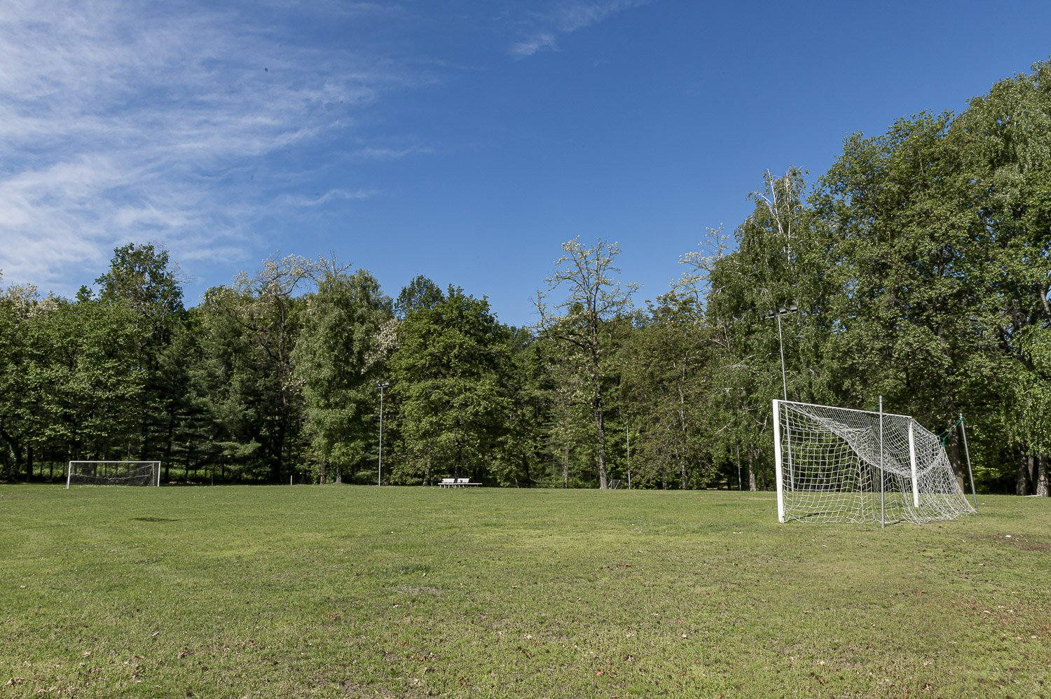 Property in a park in Borgo Ticino, near Lake Maggiore - football field