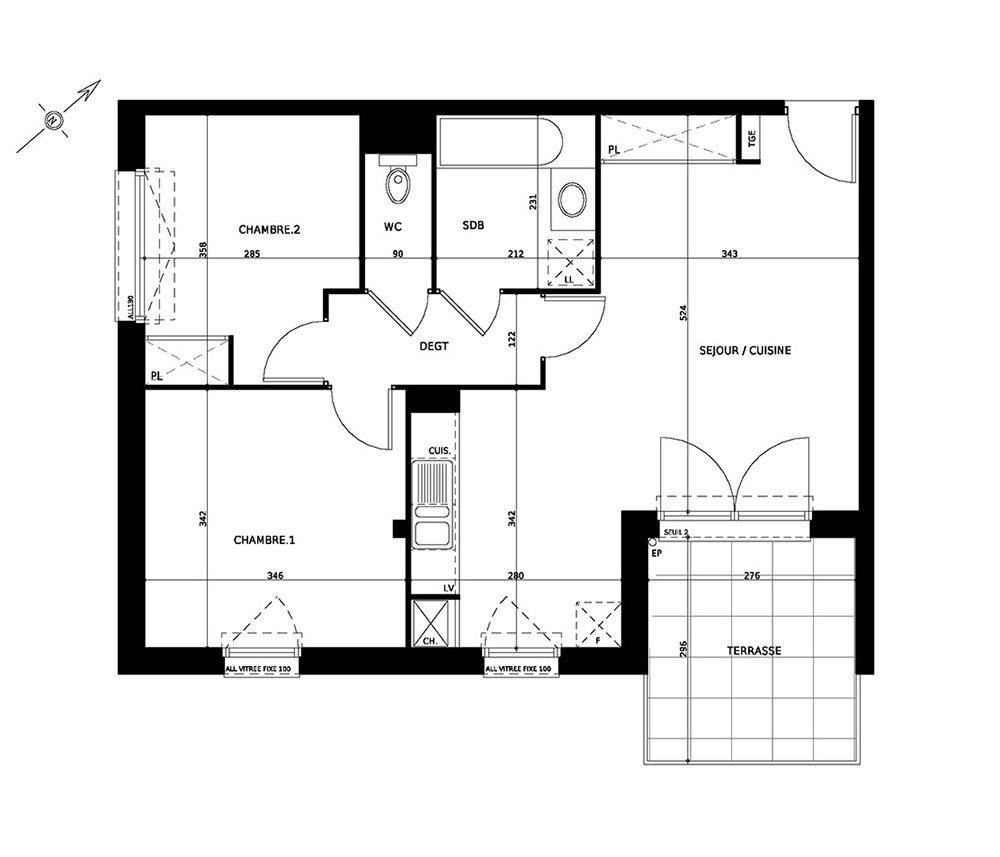 Appartement T3 NEUF - 31270 CUGNAUX