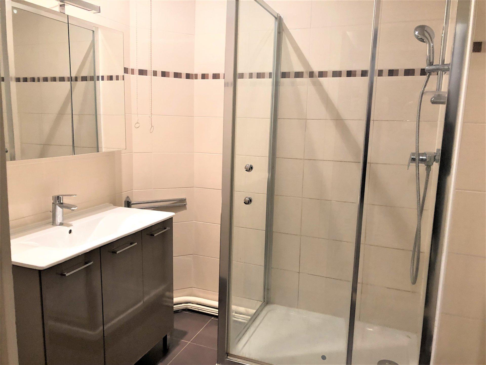 Jolie salle d'eau entièrement rénovée