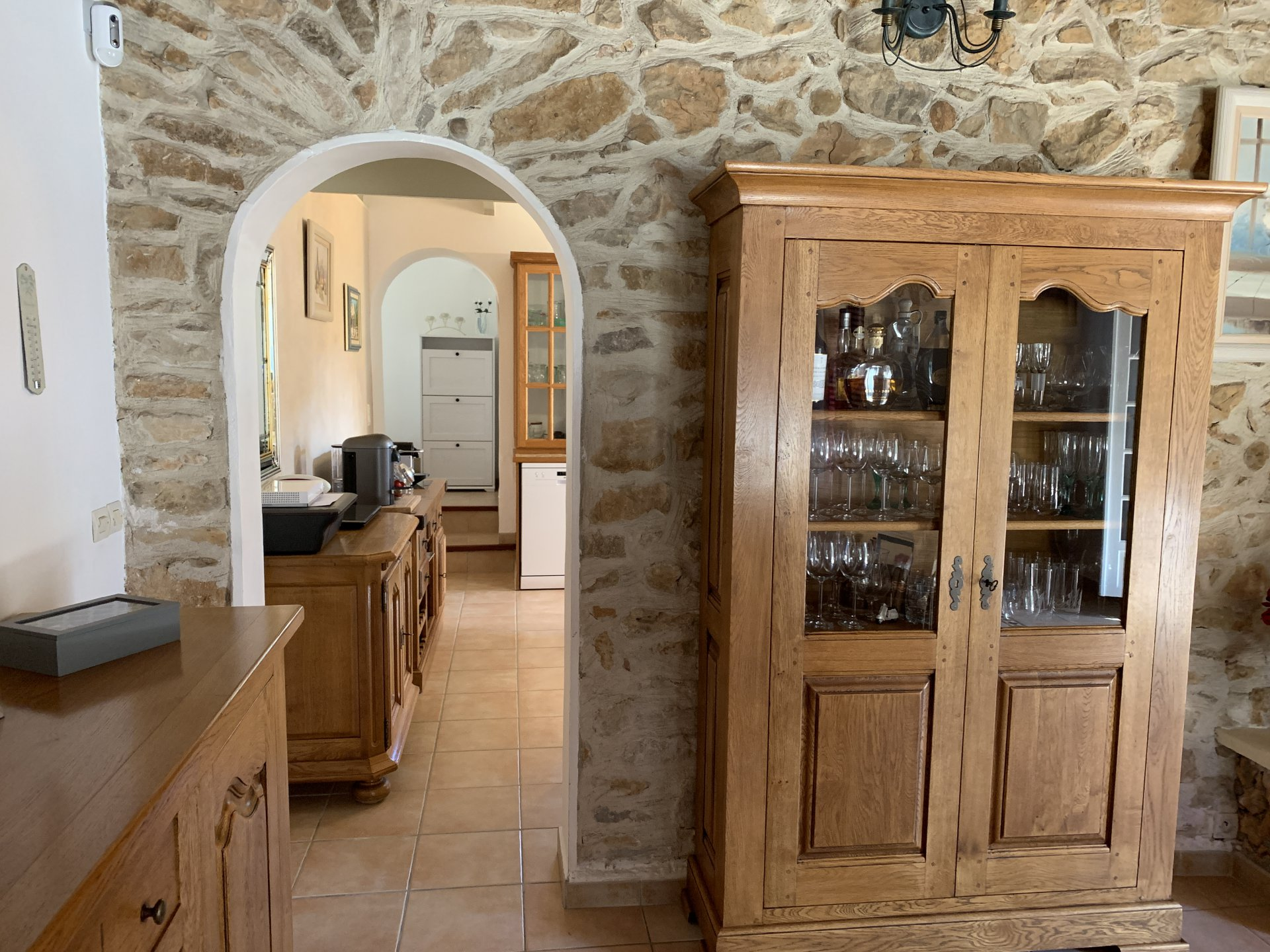 Stone house with separate guest villa on on a big plot