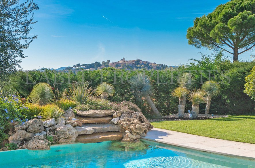 Panoramic Sea and Village in Mougins