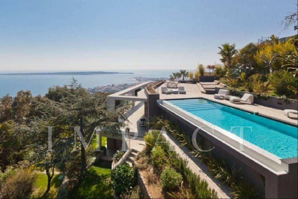 Luxurious villa with splendid view over the bay of Cannes