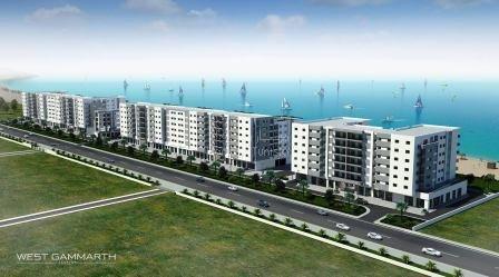 Nouvelle zone Gammarth Résidence S+3 luxe neuf tout équipé avec plage aménagée privée à 20m