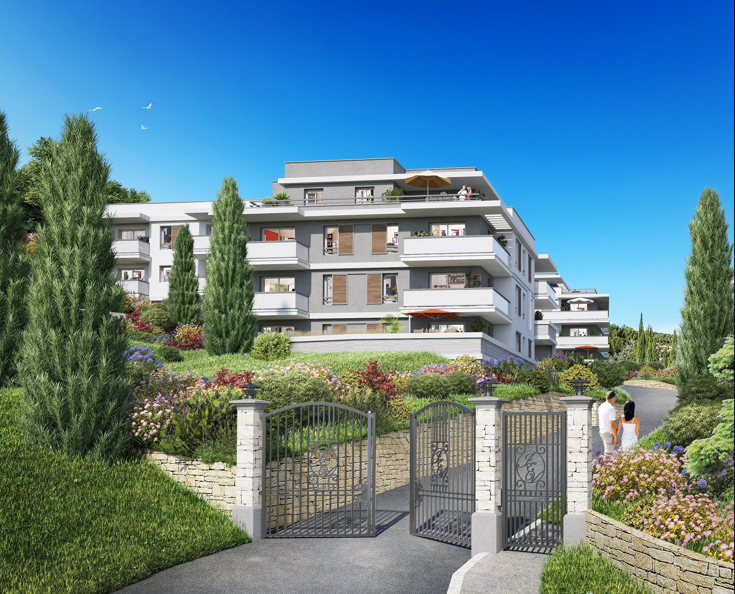 MOUGINS - French Riviera - 3 bed Apartment with large terrace - swimming pool