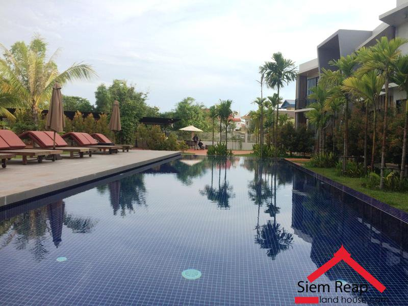 2 bedrooms apartment full furniture with swimming pool for rent in siem reap Cambodia $650 ID  AP-175