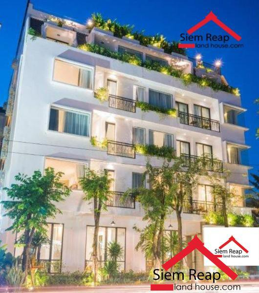 Studio apartment swimming pool at rooftop gym in siem reaps for rent $600 ID: A-182