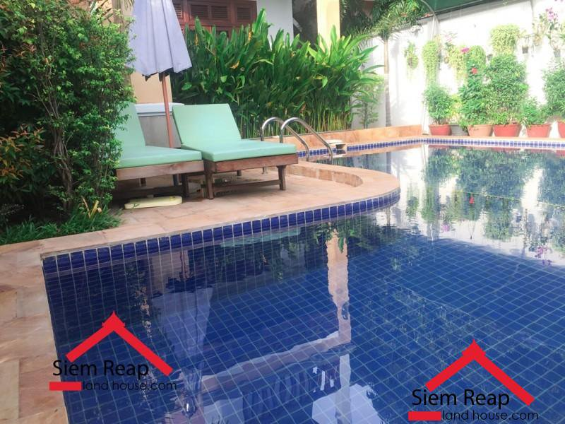 Luxurious 2 bedrooms apartment with pool for rent in Siem Reap ID: A-206 $550/m