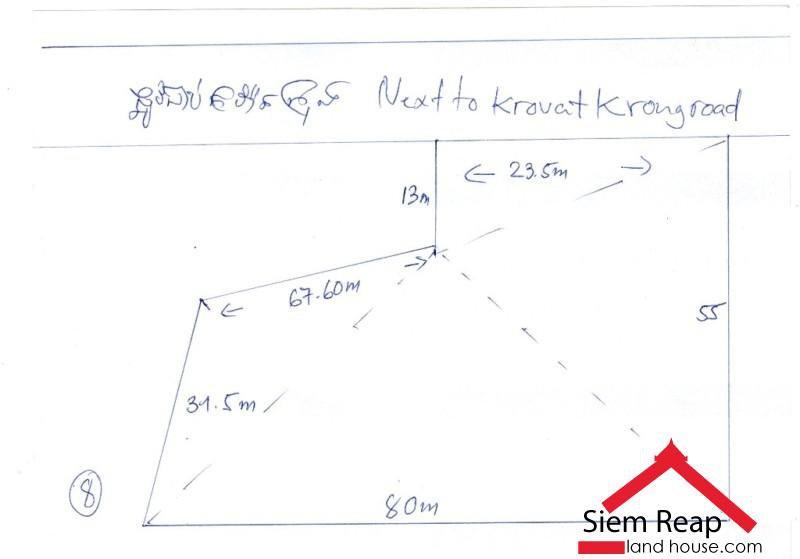 Land 3500m2 on Krovat Krong  road for rent in siem reap ID: LFR-115 $1500/month negotiate