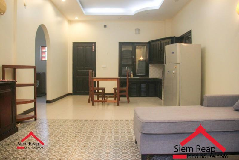 1 bedroom Apartment Khmer style private balcony for rent ID: A-238 $400 per month