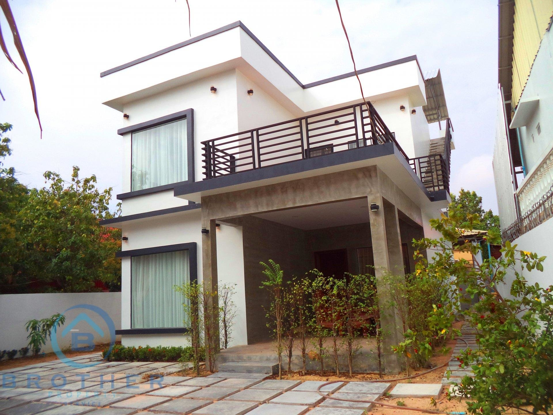 Three bedrooms modern designed  Villa for rent in Sok San road
