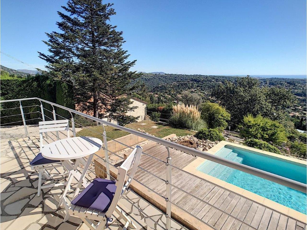 Modern villa med pool och panoramautsikt - Vence