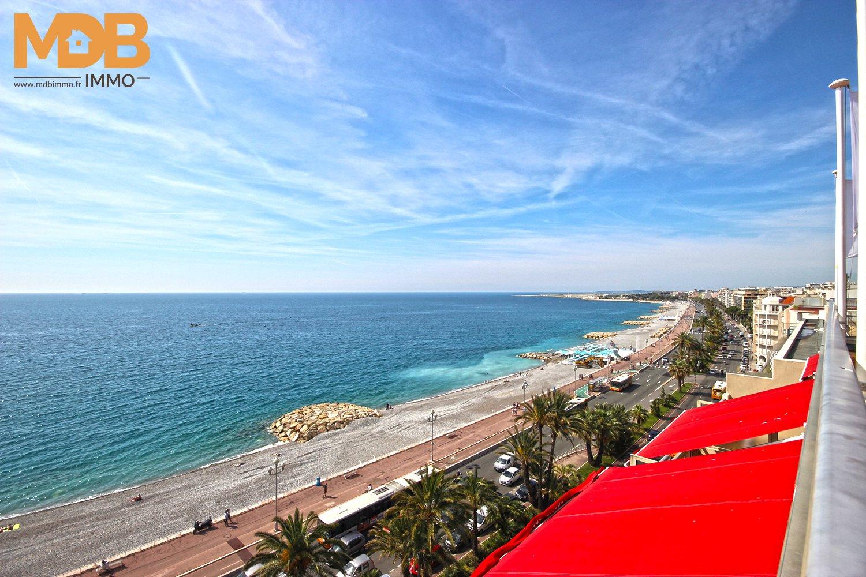 Nice - Promenade des Anglais - Grand 2 pièces - Vue mer - Terrasse