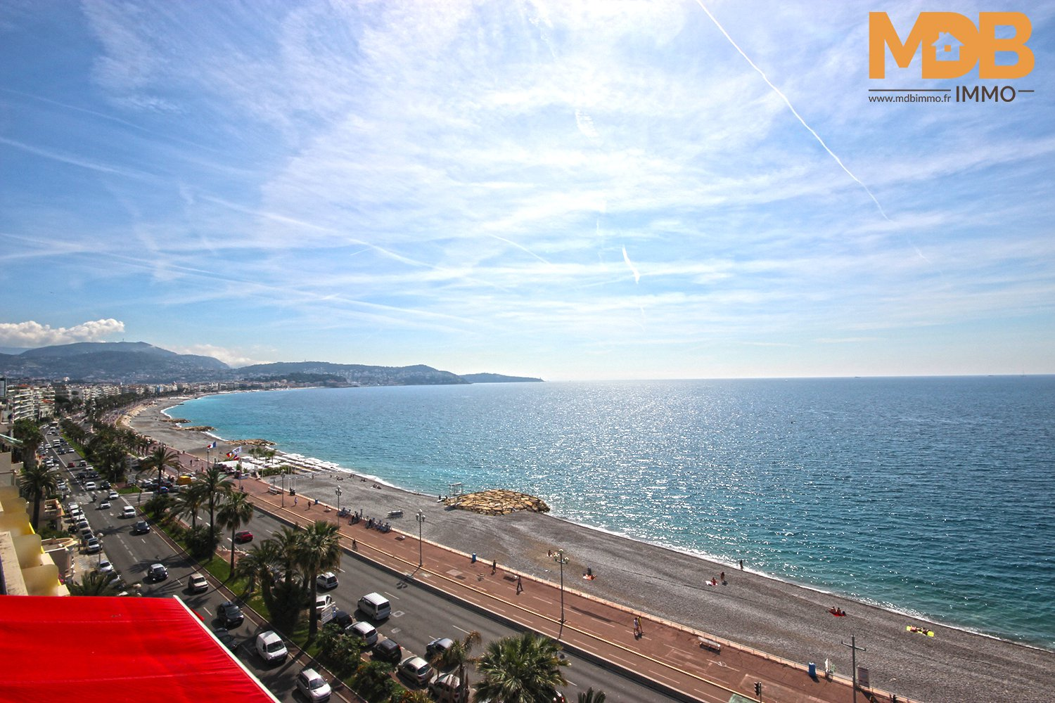 Nice - Promenade des Anglais - Large 2 rooms - Sea view - Terrace