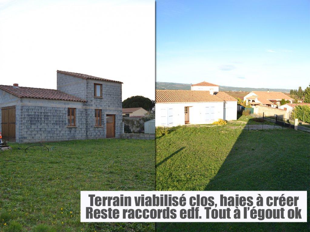 Bâtiment sur 470 m² de terrain viabilisé, constructible et clos