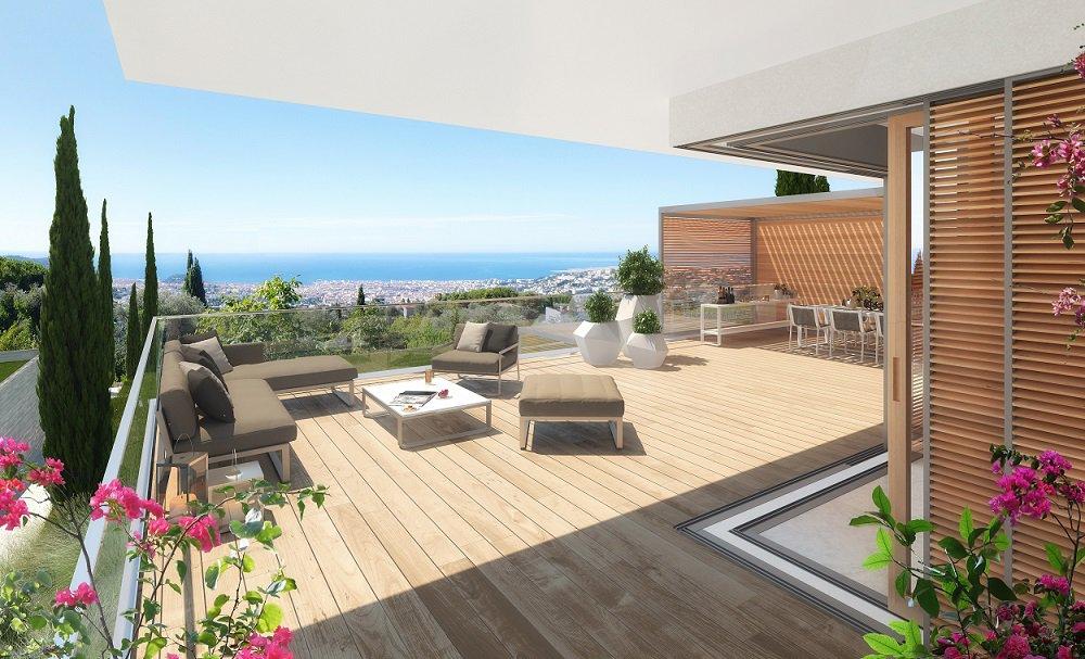 Appartement-villa 4 pieces dans une residence de luxe neuve