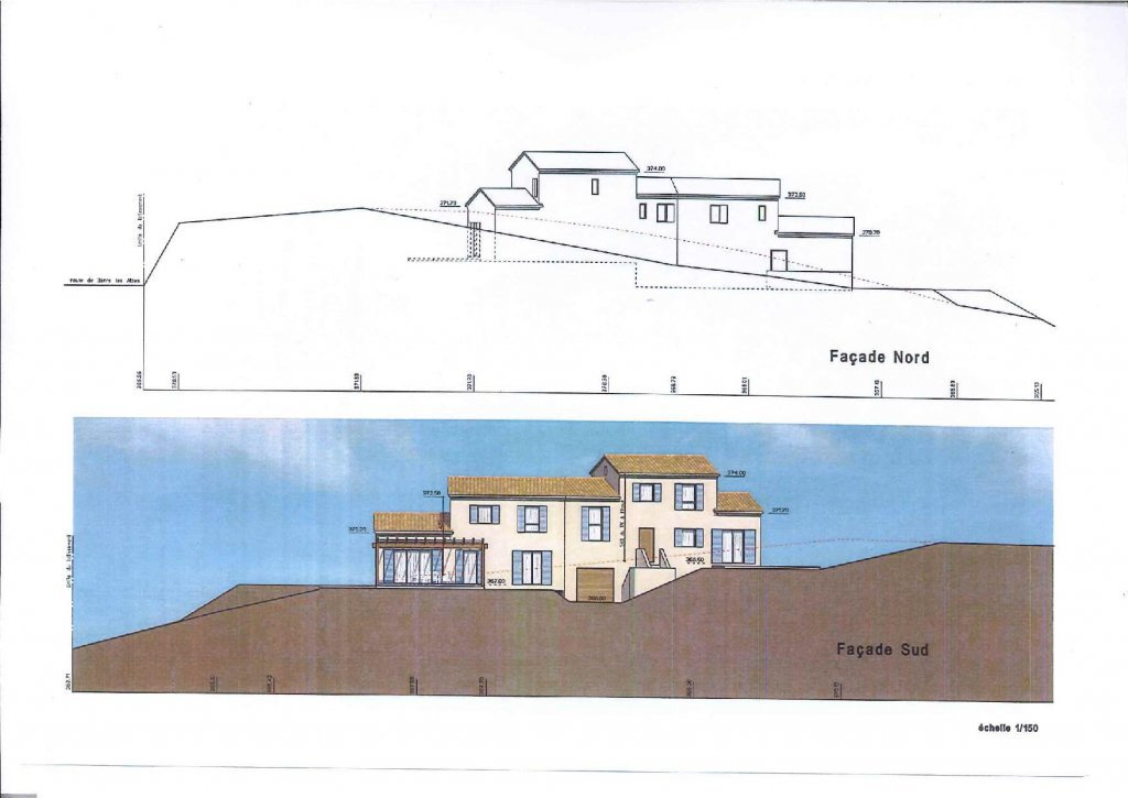 CONTES : Beau terrain de 2000 m² avec Permis de Construire ...