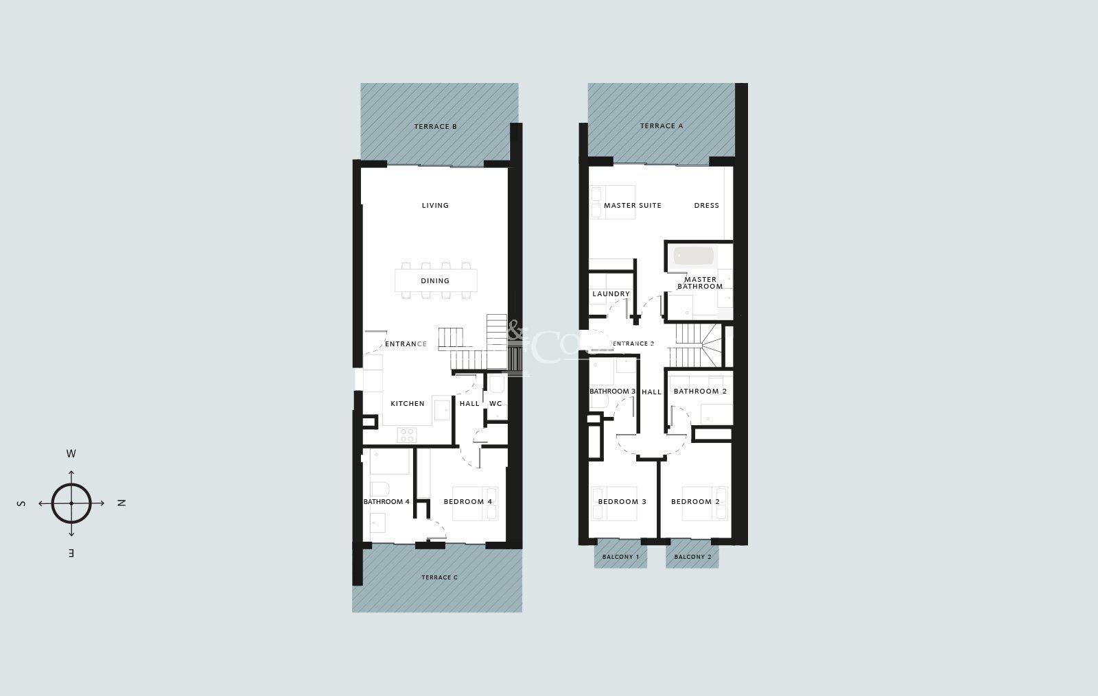 Penthouse leilighet til salgs på Cap d'Antibes